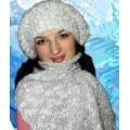 Женские шапки, берет с шарфом