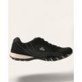 Кроссовки черные с белой вставкой