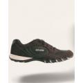 Кроссовки темно-коричневые с белой вставкой