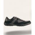 Кроссовки черные с серыми вставками