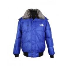 Куртка мужская зимняя ярко-синего цвета с мехом