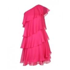 Платье Apart ярко-розовое многоярусное