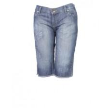 Бриджи женские джинсовые с вышивкой