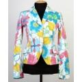 Пиджак белый с цветочным узором